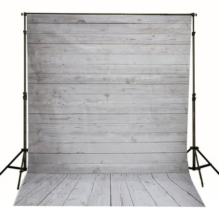 7x5FT/5x7FT Photography Vinyl Fabric Background Backdrop Photo Studio Props Superhero City Building / Wooden Wall Floor - Photo Stand In Props
