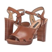Nine West Womens Delilah Leather Open Toe Casual Ankle Strap Sandals