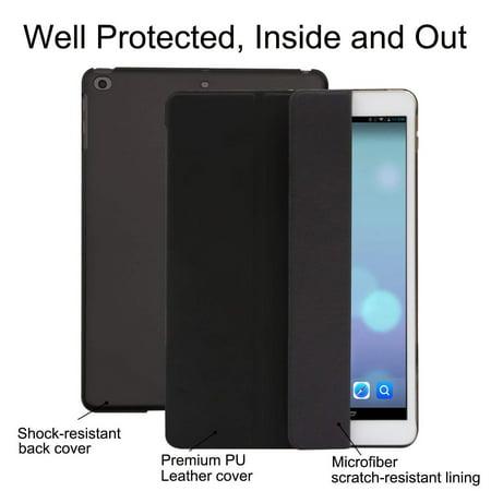 Mosiso for New iPad 2018/2017 9.7 Inch Slim Lightweight Smart Shell Cover Auto Sleep/Wake Protect Case, Black (Phantom Protect Shell)