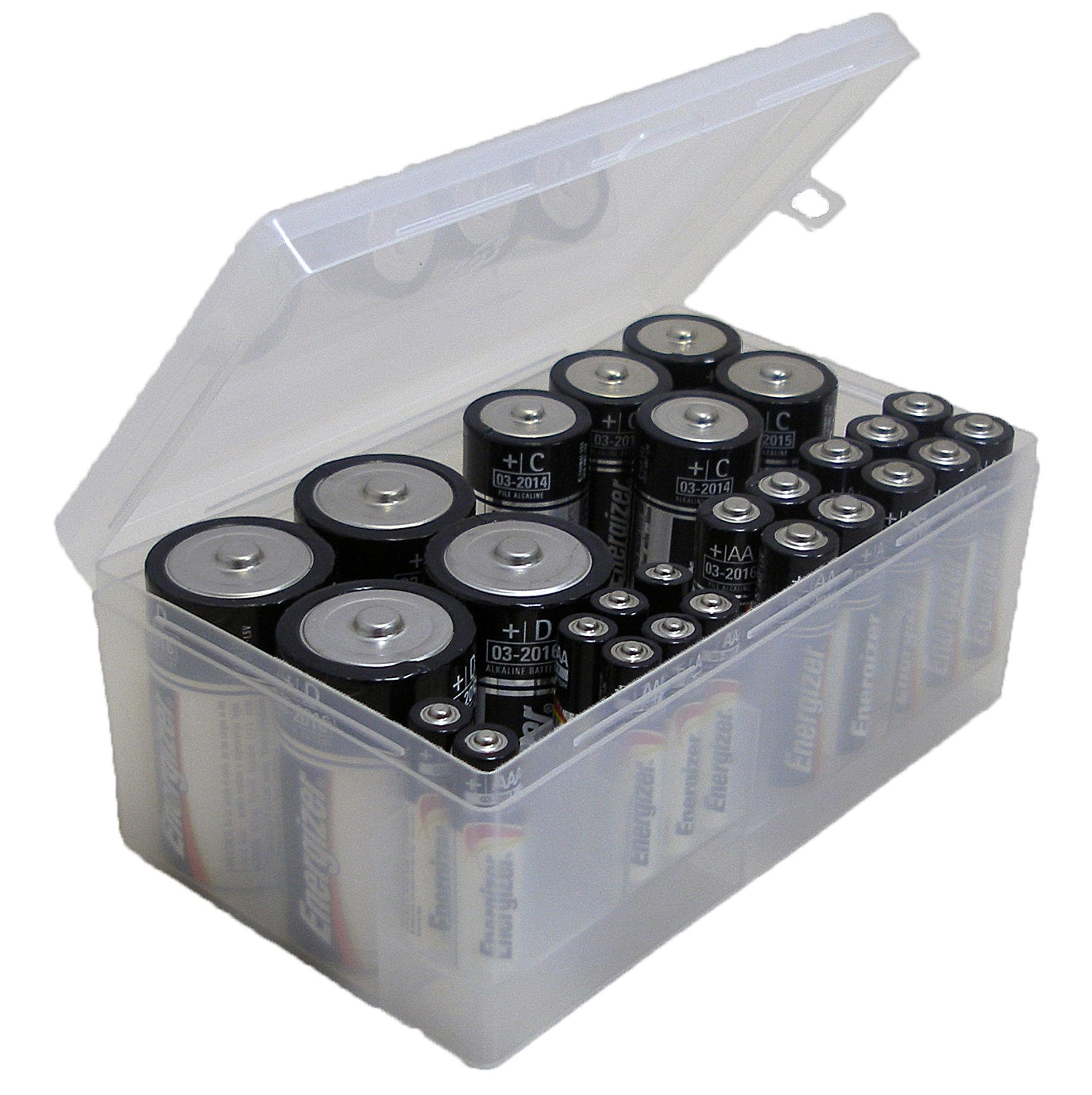 Clear Multi Battery Organizer