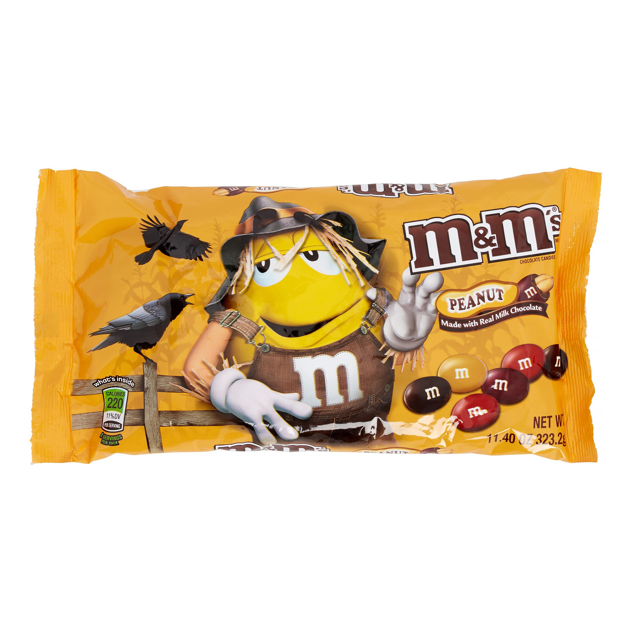 M&M's Chocolate Candy, Peanut, Fall Harvest Blend, 11.4 Oz by Mars Chocolate