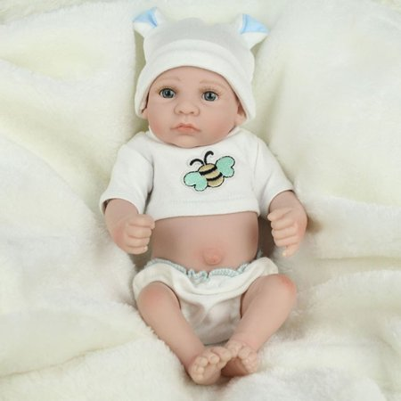 28cm Lovely Kids Reborn Baby Doll Washable Soft Vinyl Lifelike Newborn Doll Girl Boy Best Birthday Gift For Boys Girls - image 6 de 8