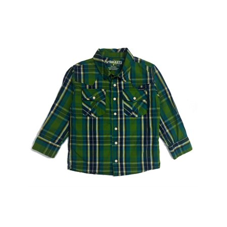 Sprockets Baby Boys Green Plaid Casual Western Long Sleeve Shirt