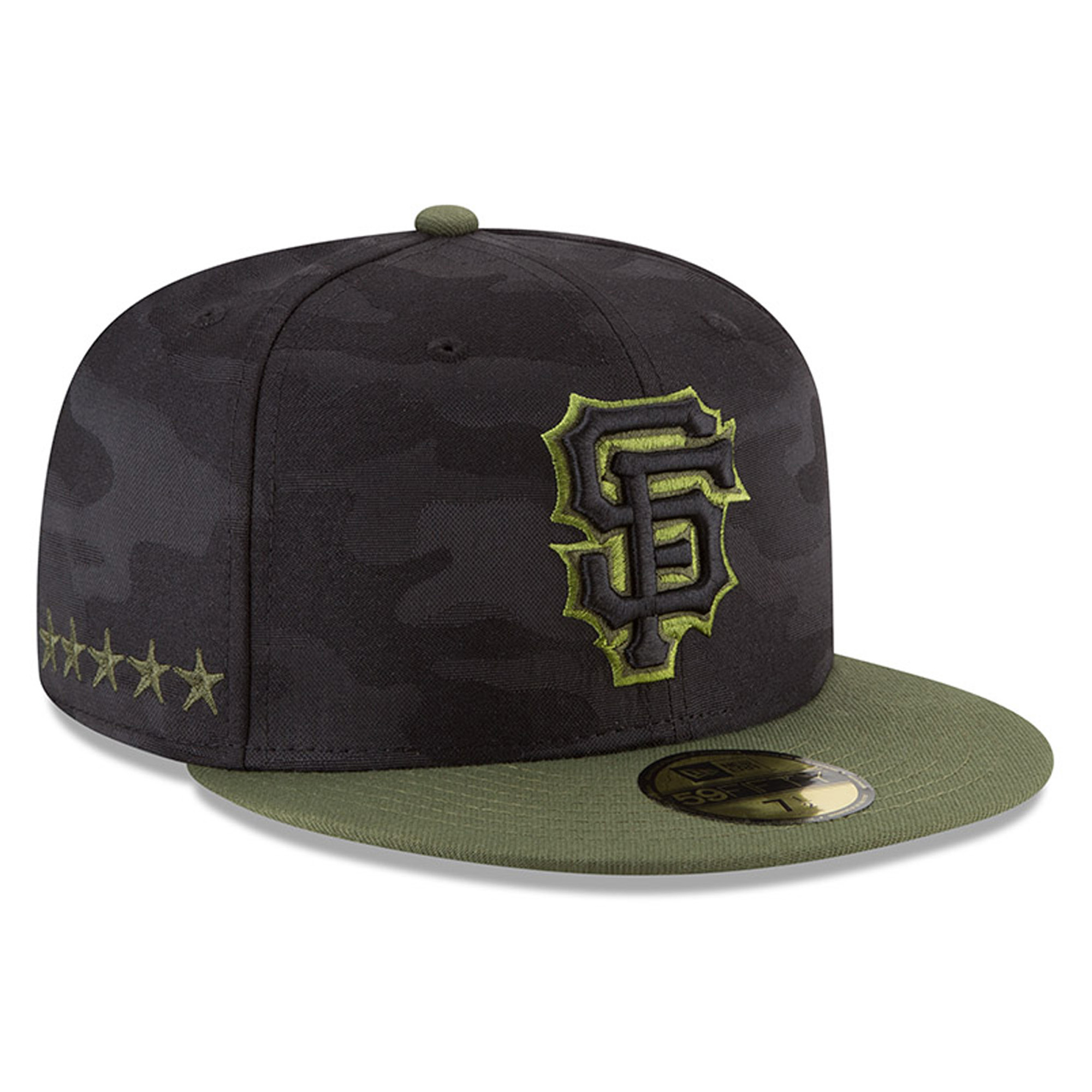 San Francisco Giants New Era 2018 Memorial Day On-Field 59FIFTY Fitted Hat - Black