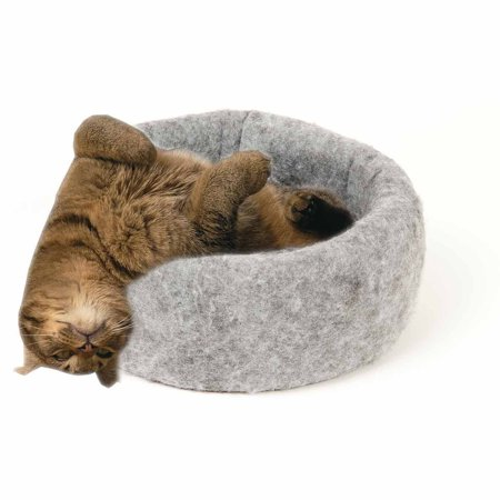 Mysterious Kuddle Kup Cat Bed Charcoal