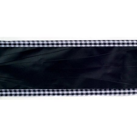 Pack Of 4 Black And White Checkered Craft Wired Ribbons 4 X 10