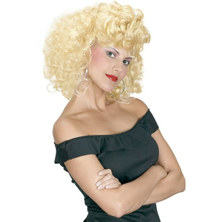 Waynes World Wig (Cool 50s Girl Blonde Wig)