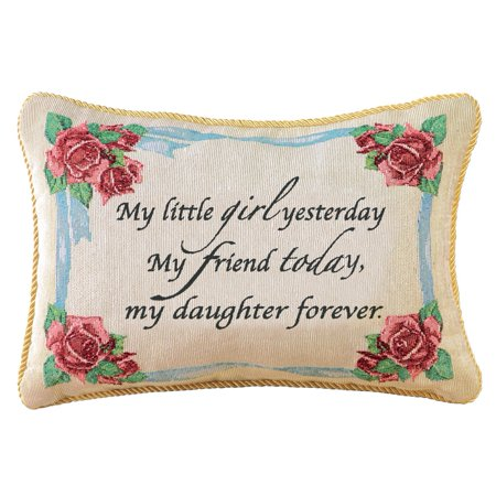 Daughter Forever Decorative Tapestry Accent Throw Pillow, Multi ()