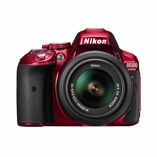Nikon D5300 Digital SLR Camera with 24.2 Megapixels and 18-55mm Lens Included (Available in multiple colors)