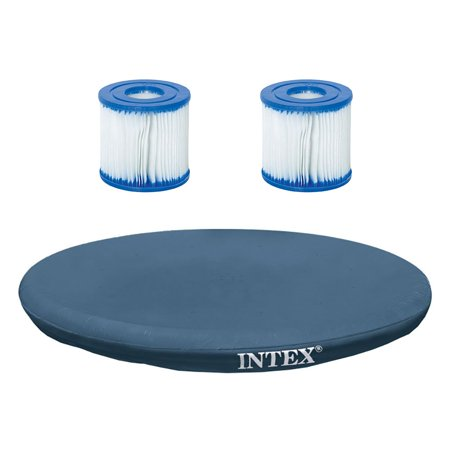 Intex 15-Foot Easy Set Pool Cover & Bestway CM Filter Cartridge Type VII, Type