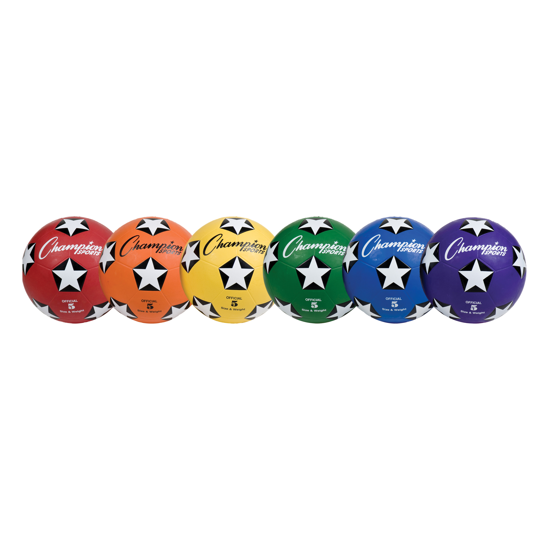 Rubber Cover Soccer Ball Set, Size 5