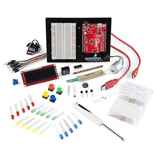 Sparkfun Inventor's Kit for Arduino with Simon Says circuit experiment.  Special Edition in Red Cardboard Box.