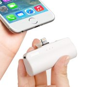 iWALK Mini Portable Charger with Built in Plug, 3350mAh Ultra-Compact Power Bank External Battery Pack Charger Compatible with iPhone 5 6 7 8 Plus X SE XS, iPad,White