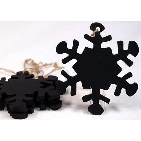 Snowflakes To Hang From Ceiling (Snowflake Shape Chalkboard Christmas Ornaments, 4 inch size, Ready to Hang or Decorate, Pack of 6 Ornaments, Creative Hobbies® Synthetic Chalkboard.., By Creative Hobbies Ship from)