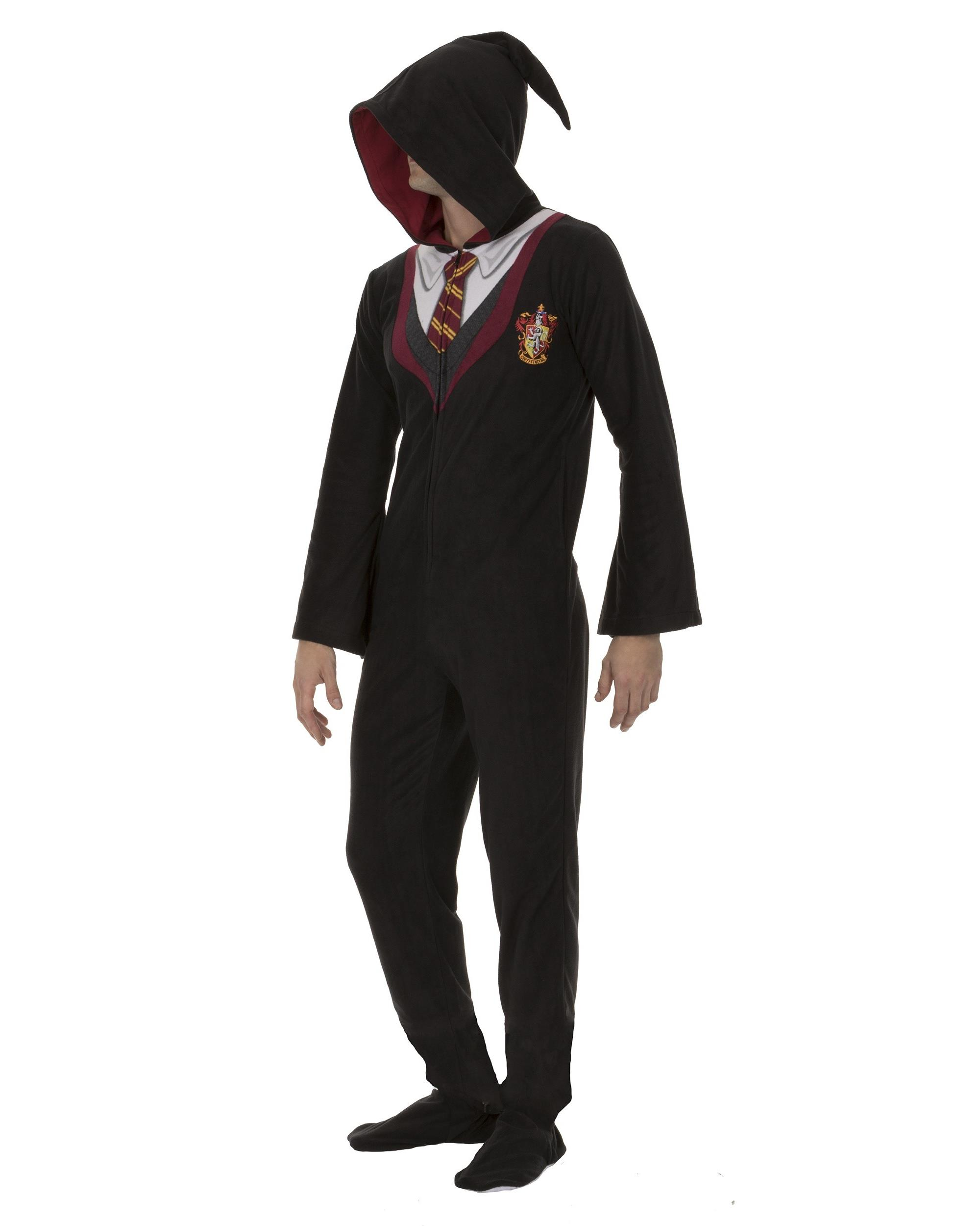 HARRY POTTER Women/'s Hooded Union Suit Cosplay Pajamas Adult Multiple Sizes