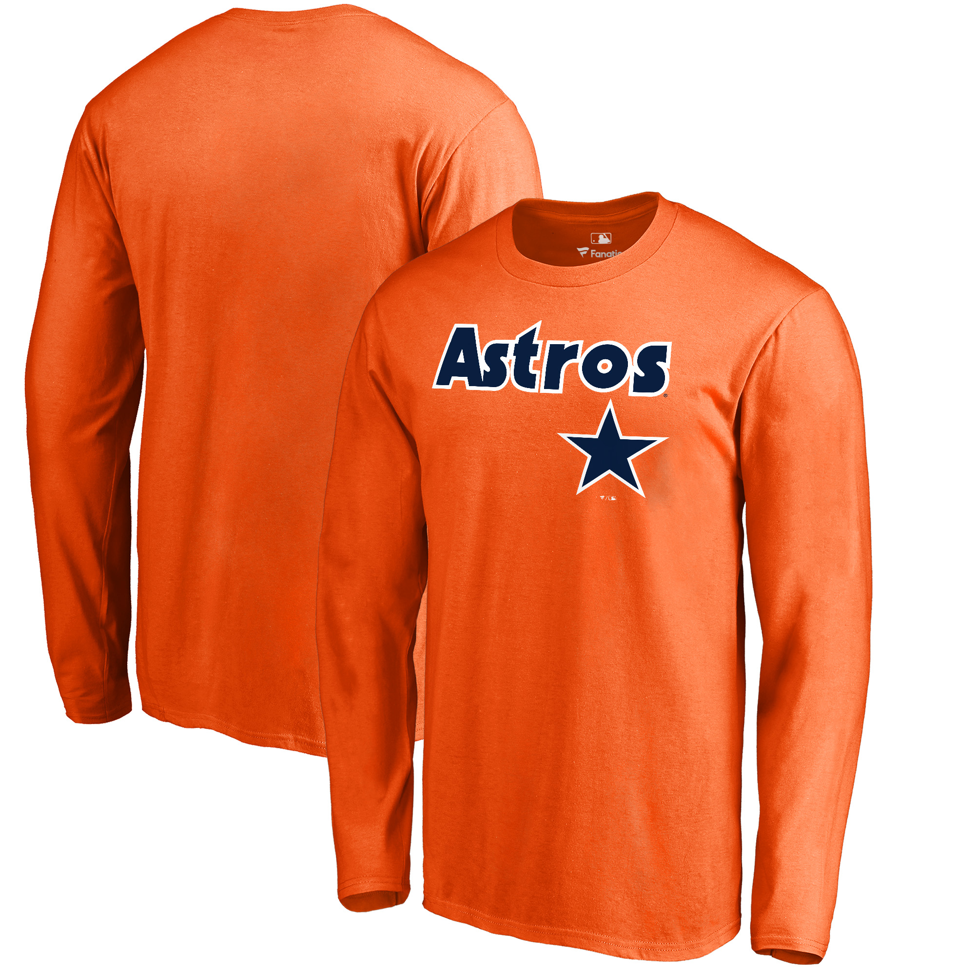 Houston Astros Fanatics Branded Cooperstown Collection Wahconah Long Sleeve T-Shirt - Orange