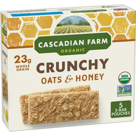 Cascadian Farm Organic Granola Bars Crunchy Oats & Honey