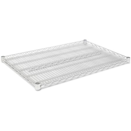 Alera Industrial Wire Shelving Extra Wire Shelves, 36″W x 24″D, 2 Shelves Per Carton, Available in Silver or Black