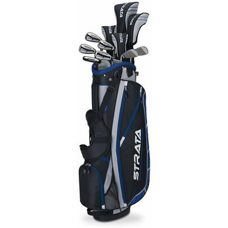 Callaway Men's Strata Plus Complete 16-Piece Golf Club Set with Bag, Right (Best Hybrid Golf Clubs)