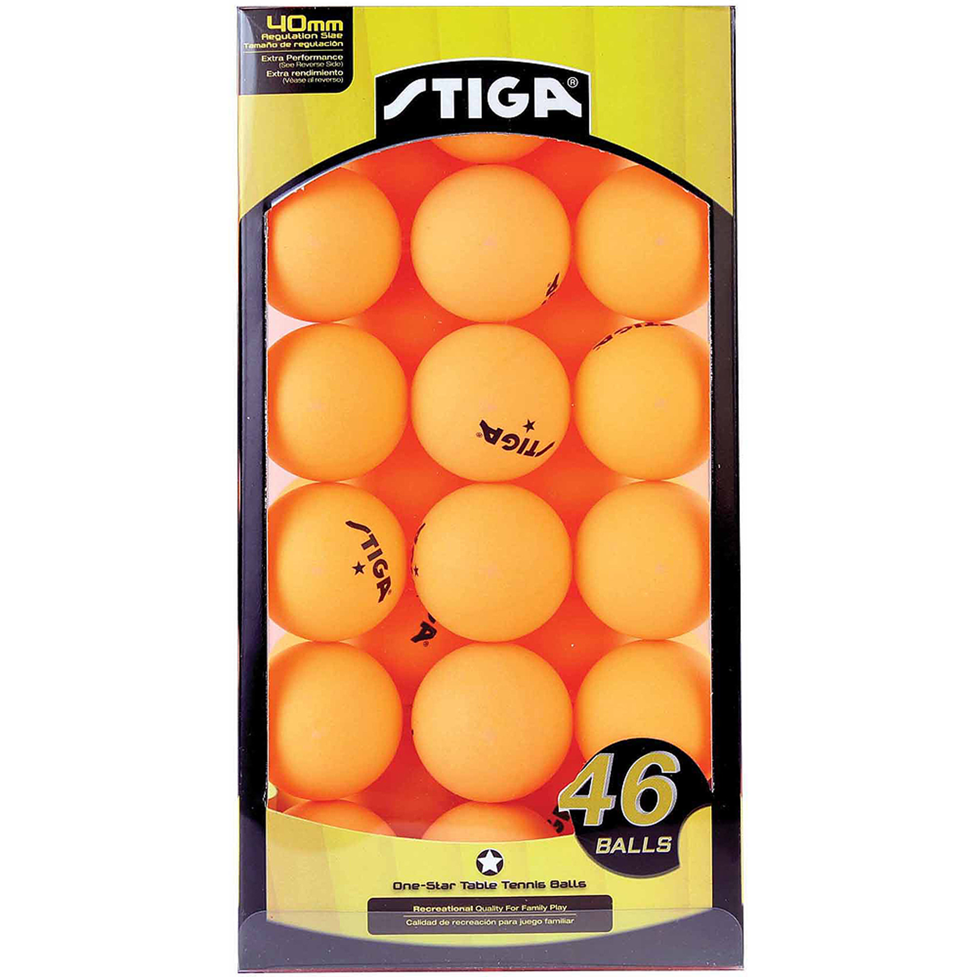 STIGA 1-Star Table Tennis Balls, 46pk