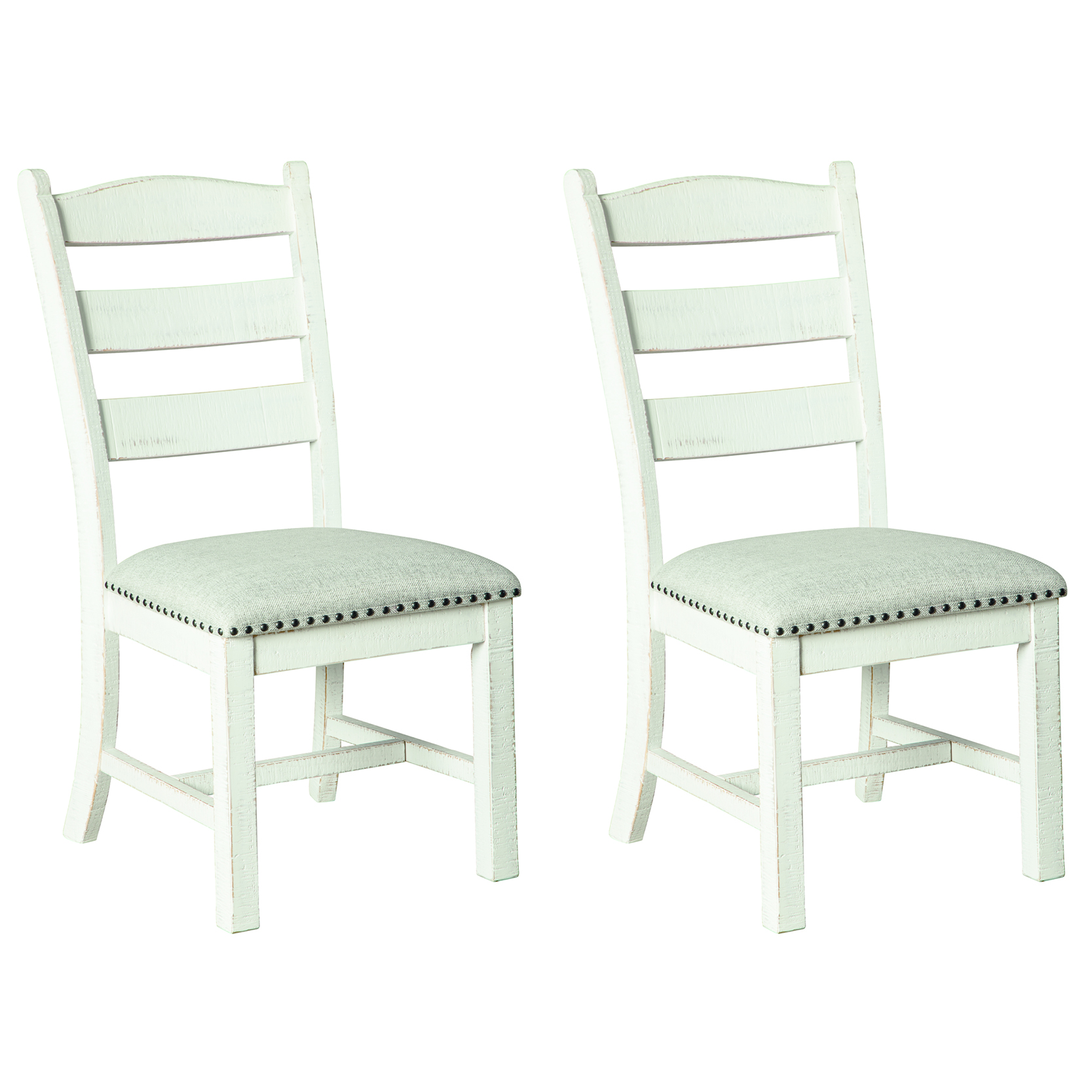 Signature Design By Ashley Valebeck Dining Side Chair Set Of 2 Beige White Walmart Com Walmart Com