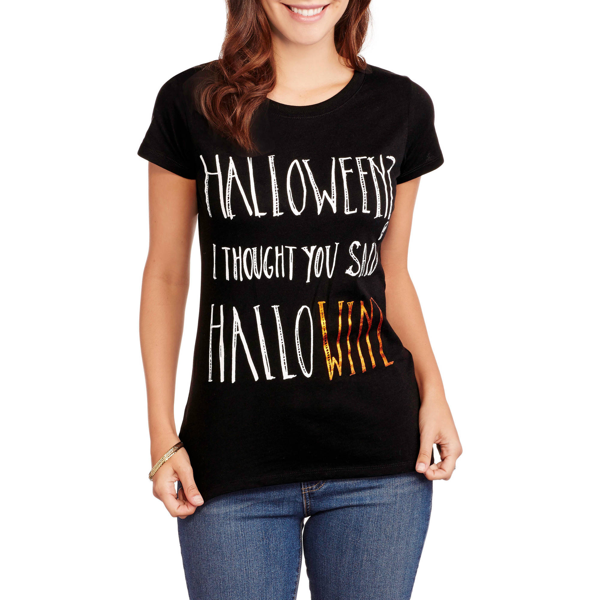 Women's Celebrate the Season Halloween Crewneck Graphic T-Shirt