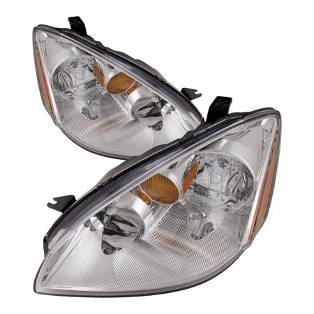 2002-2004 Nissan Altima New Headlights Left Driver Right Passenger Set Halogen Headlamps Pair Assembly NI2502142 and NI2503142