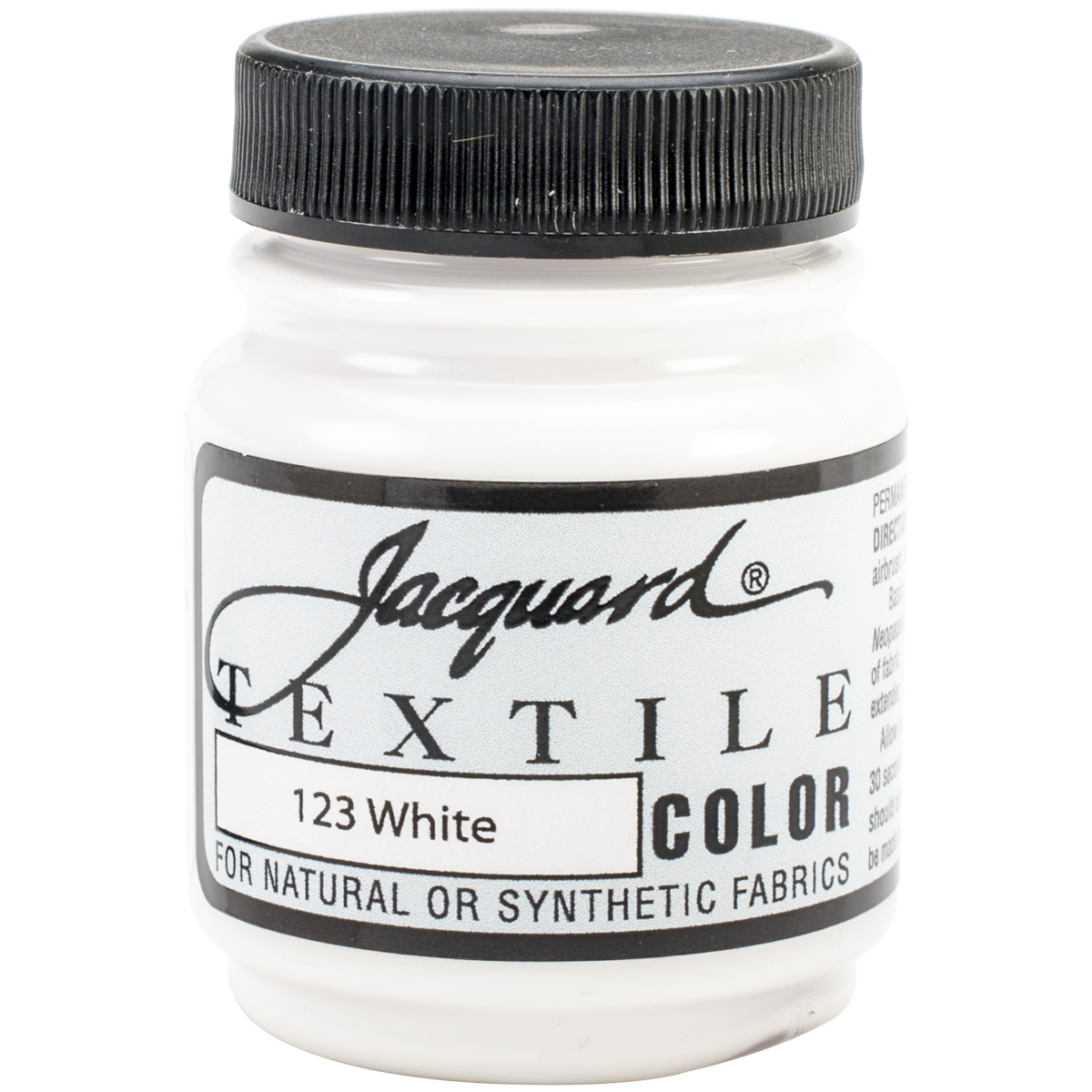 Jacquard Products Jacquard Textile Color Fabric Paint, 2.25-Ounce, White Multi-Colored