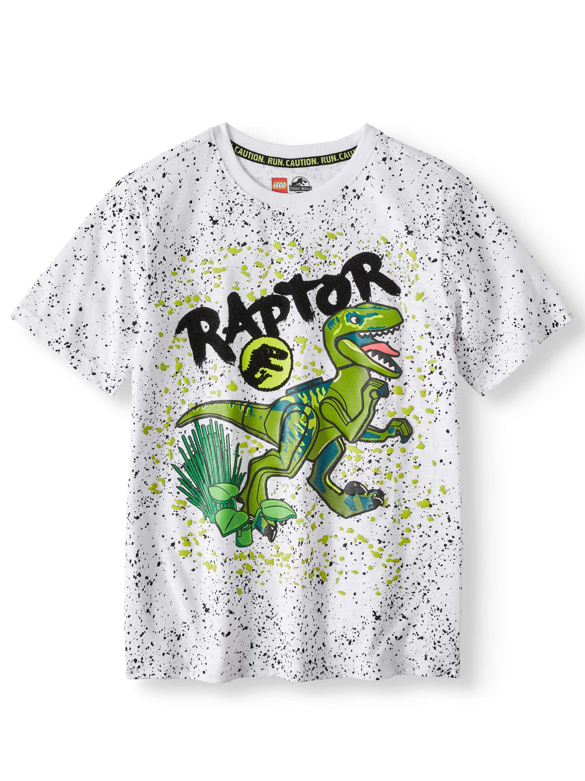 ab4e0741 LEGO - Jurassic World Raptor Short Sleeve Graphic Tee (Little Boys & Big  Boys) - Walmart.com