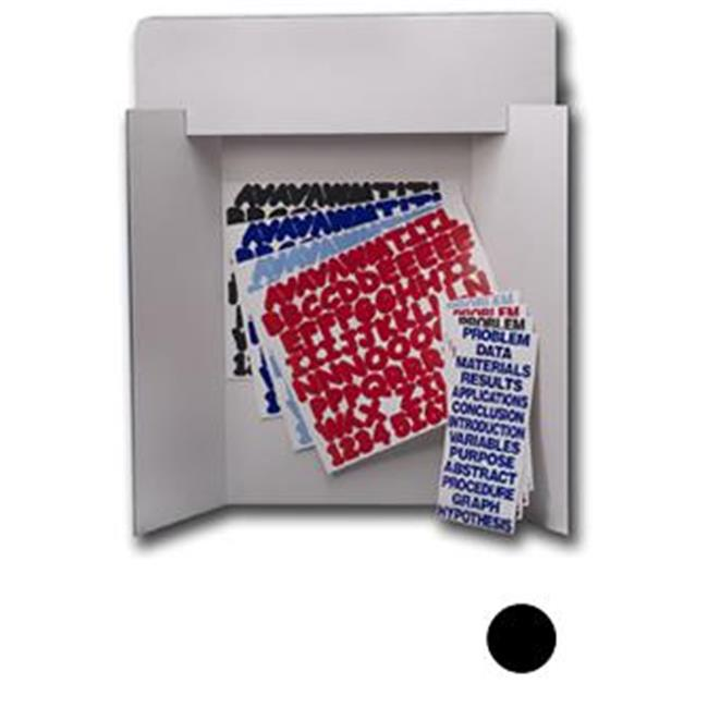 Flipside Products 30853 Black Project Board Kit - Red Letters and Titles - 24 Pack