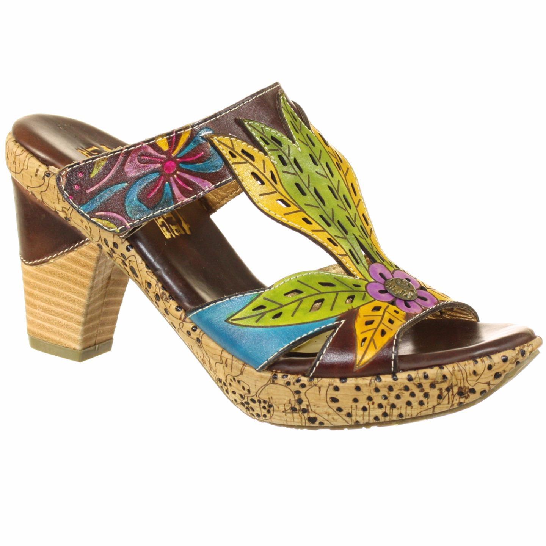 Spring Step L'Artiste Collection Cebile Women's Sandals Brown Multi EU 37 US 7
