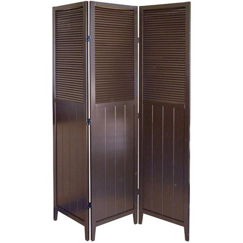 ORE International Shutter Door 3-Panel Room Divider Espresso  sc 1 st  Walmart & Door Dividers pezcame.com