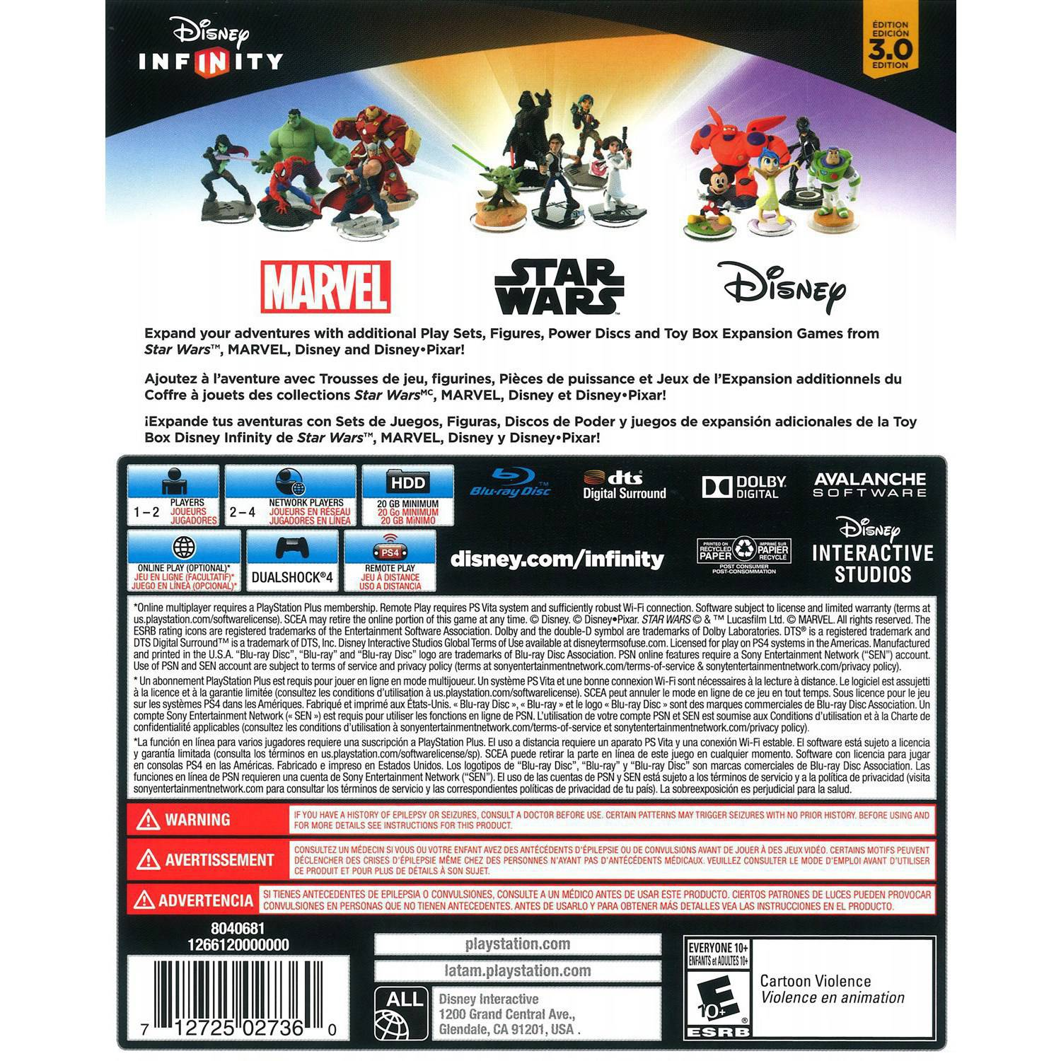 Disney Infinity 3 0 Edition Starter Pack PS4 Walmart
