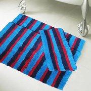 Affinity 100-percent Cotton Multi Stripe 20-inch x 32-inch Bath Rugs (Set of 3)