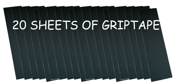 20 SHeetS OF BLACK CHEAP GRIP TAPE for your SKATEBOARD by