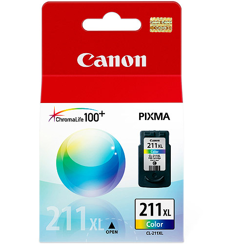 1 x genuine canon pixma 211 xl chromalife 100+ color ink for pixma series mp240 mp260 mp480