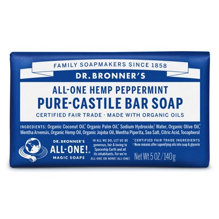 Peppermint Glycerine Soap - (2 pack) Dr. Bronner's Peppermint Bar Soap