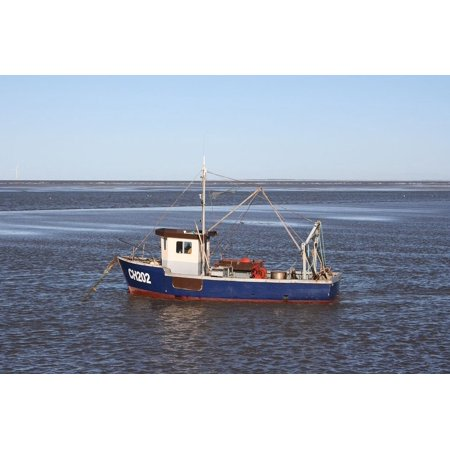 LAMINATED POSTER Floating Fishing Moored Water Boat Seaside Sea Poster Print 24 x 36
