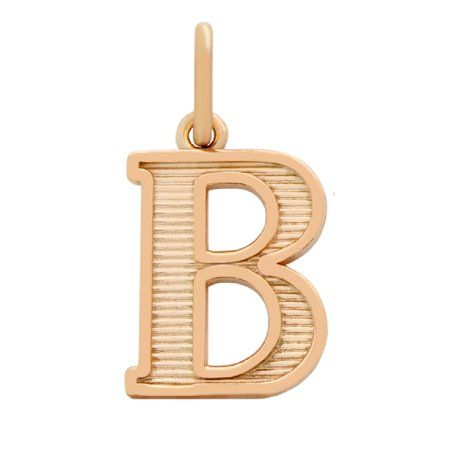 "Rose Gold-Tone Plated Sterling Silver Initial ""Y"" Charm"