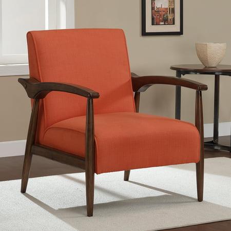 dimensions furniture gracie rust retro arm chair walmart com