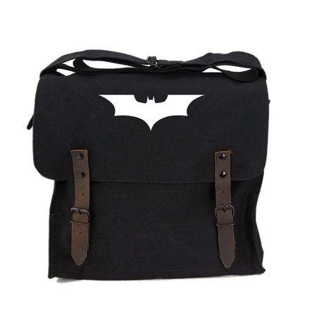 The Dark Knight Batman Logo Vintage Style Army Medic Canvas Shoulder Bag Daypack](Batman Bag)
