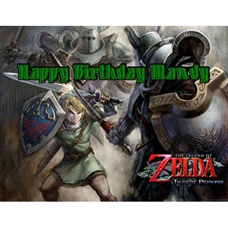 Legend of Zelda Edible Image Photo Cake Frosting Icing Topper Sheet  Personalized Custom Customized Birthday Party - 1/4 Sheet - 79568