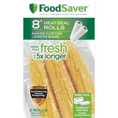 "FoodSaver 8"" x 20' Vacuum Seal Rolls, 2 Pack"