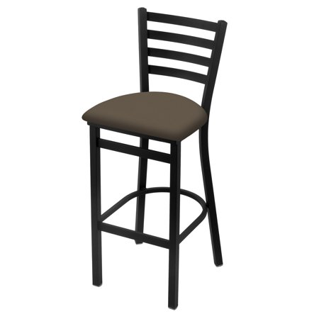 """400 25"""" Stationary Counter Stool with Black Wrinkle Finish and Canter Earth Seat"""