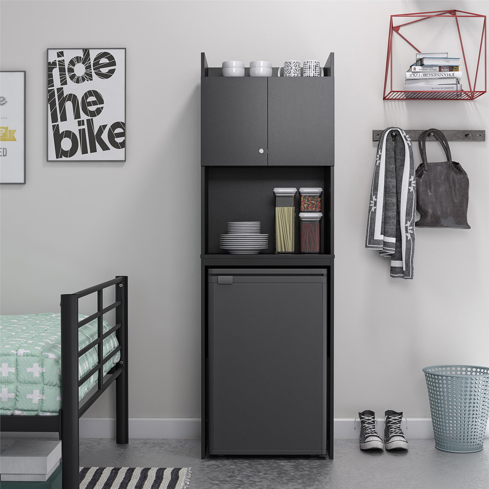 Systembuild Clarkson Mini Refrigerator, Mini Fridge Cabinet For Dorm Room