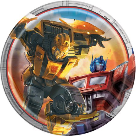 Transformers Paper Dessert Plates, 7in, 8ct - Transformers Birthday