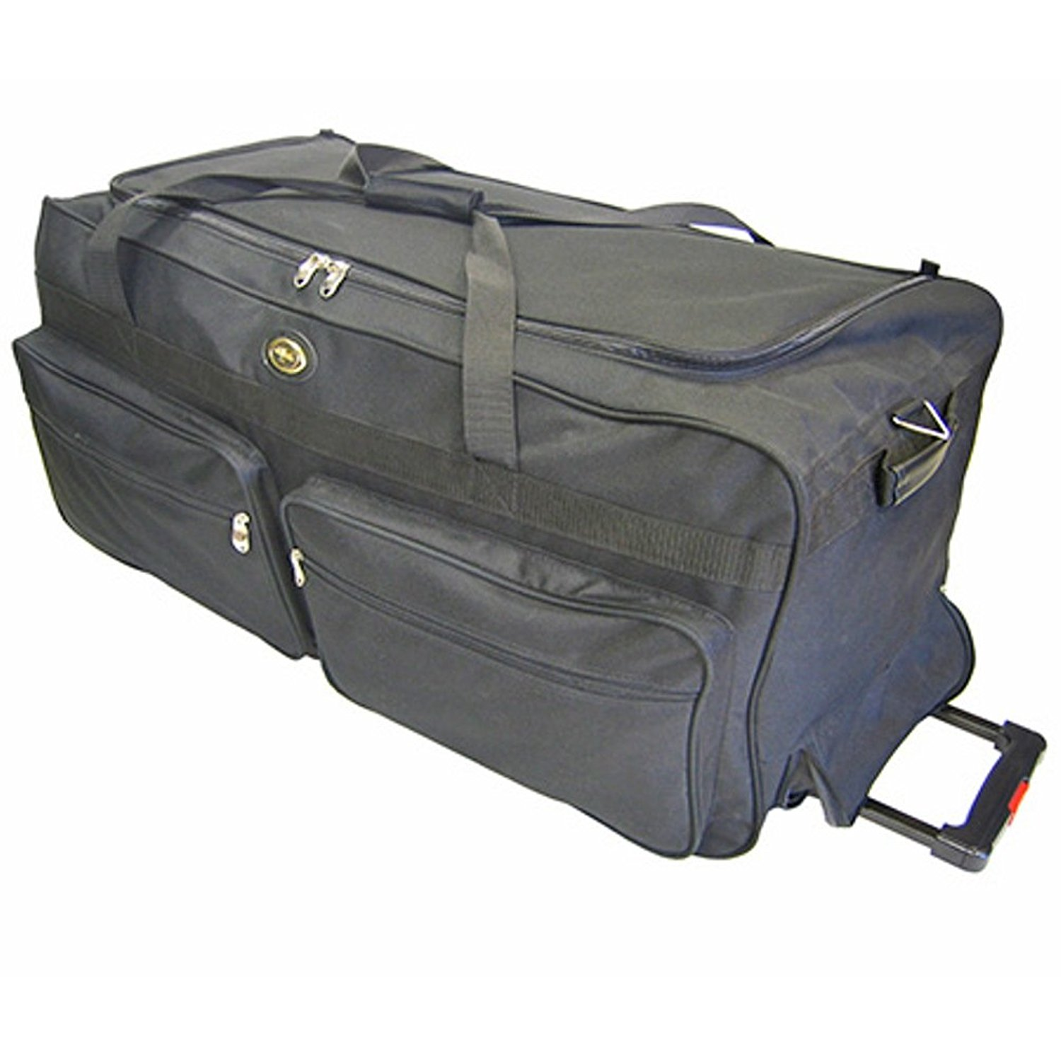 "Travel Sport Rolling Black Duffle Bag, 30"" inch"