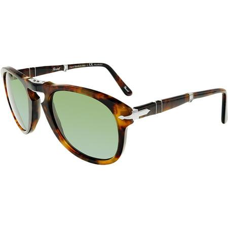 ecae4640ee Persol - Persol Men s Polarized PO0714-108 58-52 Brown Oval Sunglasses -  Walmart.com