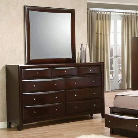 - Coaster Company Phoenix Collection Dresser Mirror, Deep Cappuccino 37