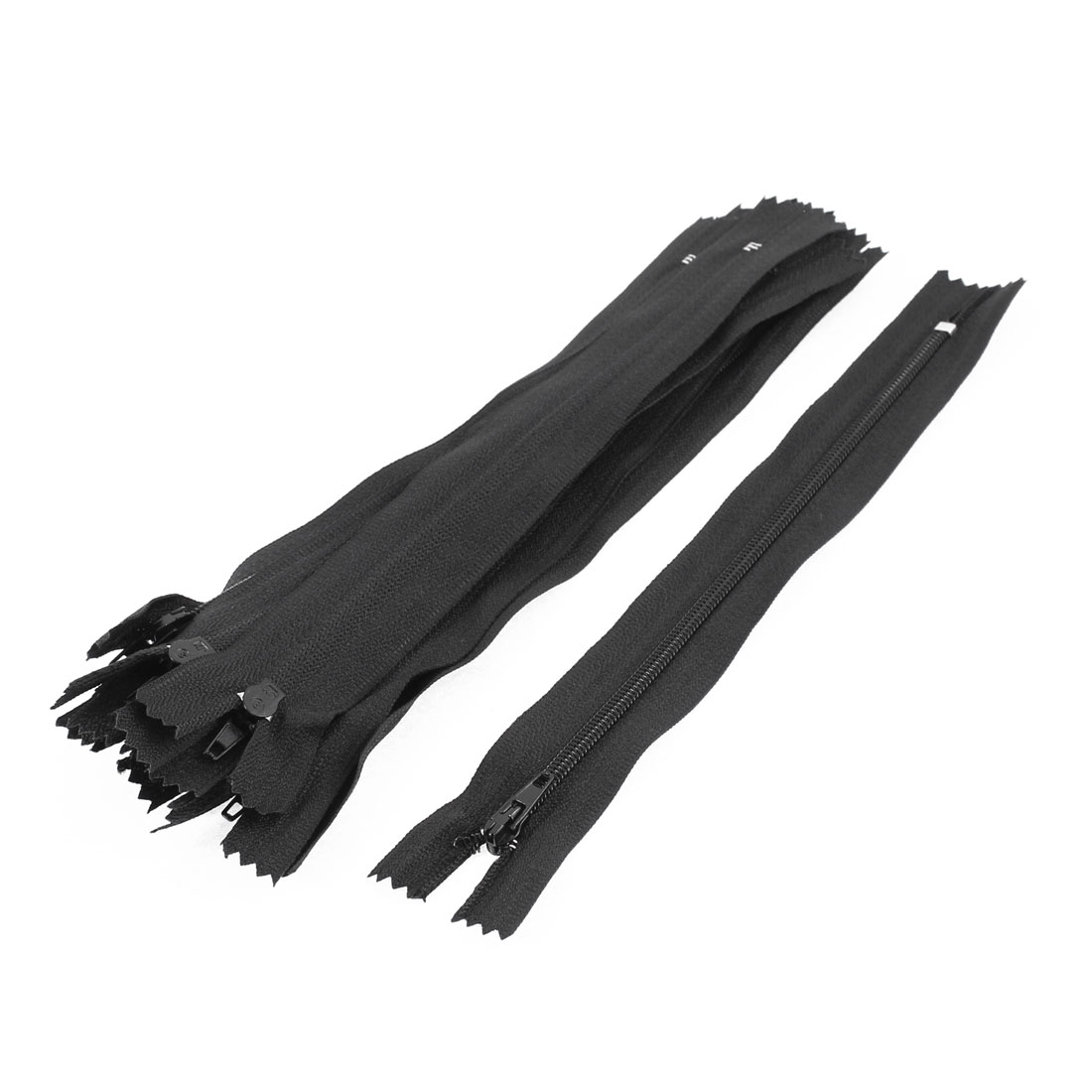 Unique Bargains Dress Pants Closed End Nylon Zippers Tailor Sewing Craft Tool Black 18cm 10 Pcs for Home Essential